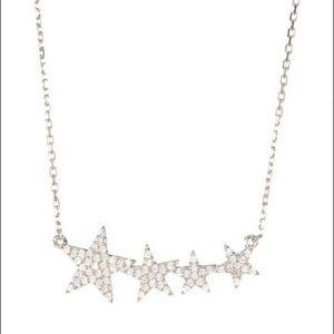 ADORNIA Shooting Star Pendant Necklace